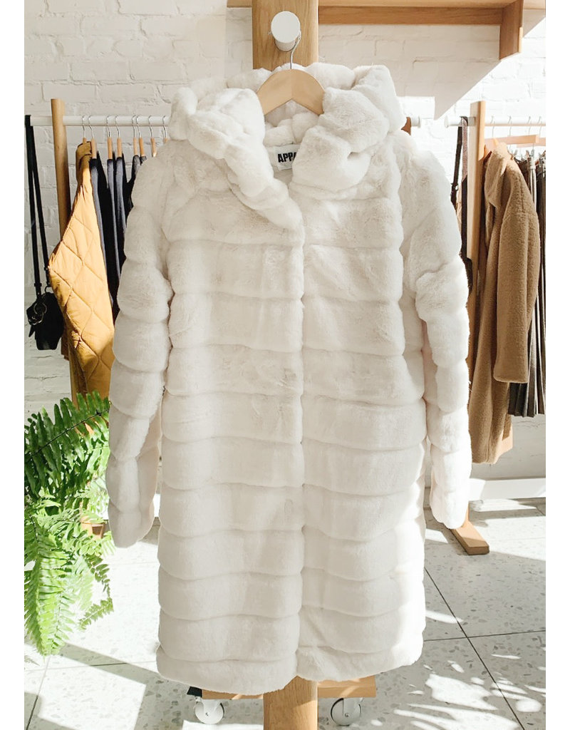 APPARIS Celina hooded jacket ivory