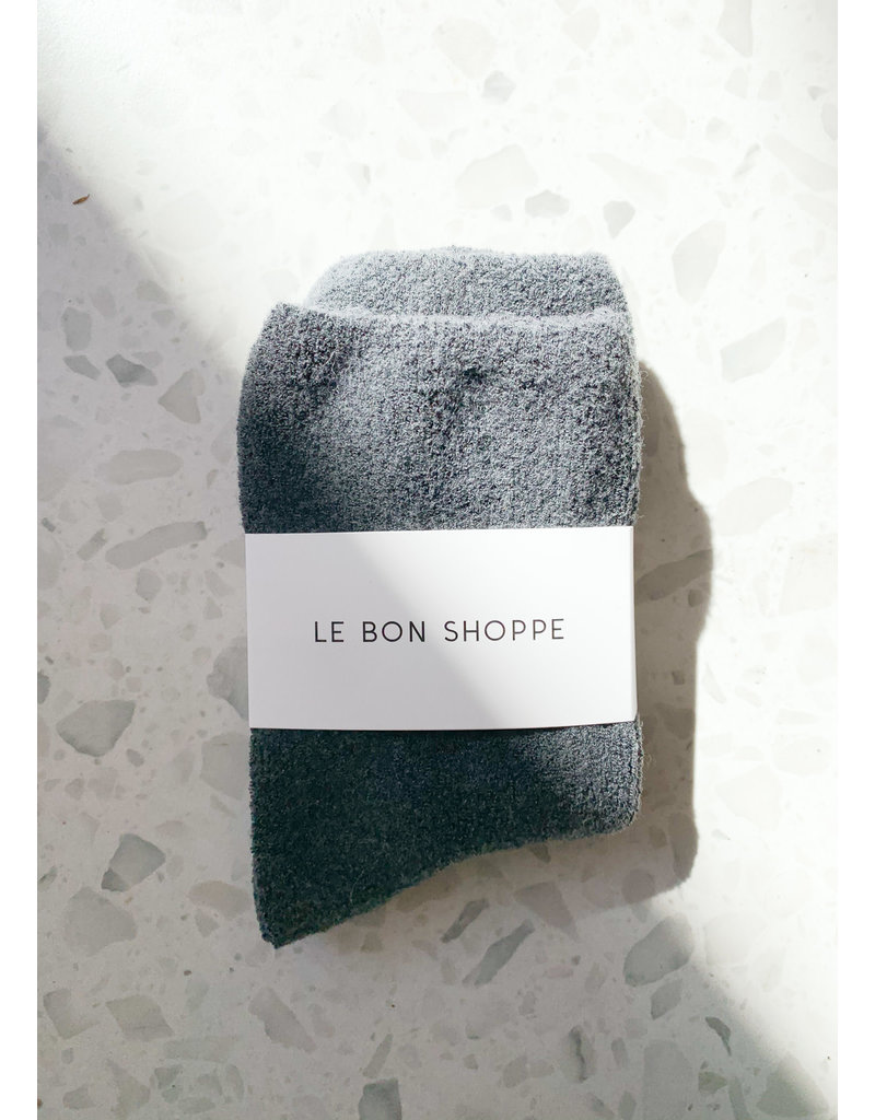 Le Bon Shoppe Cloud socks charcoal
