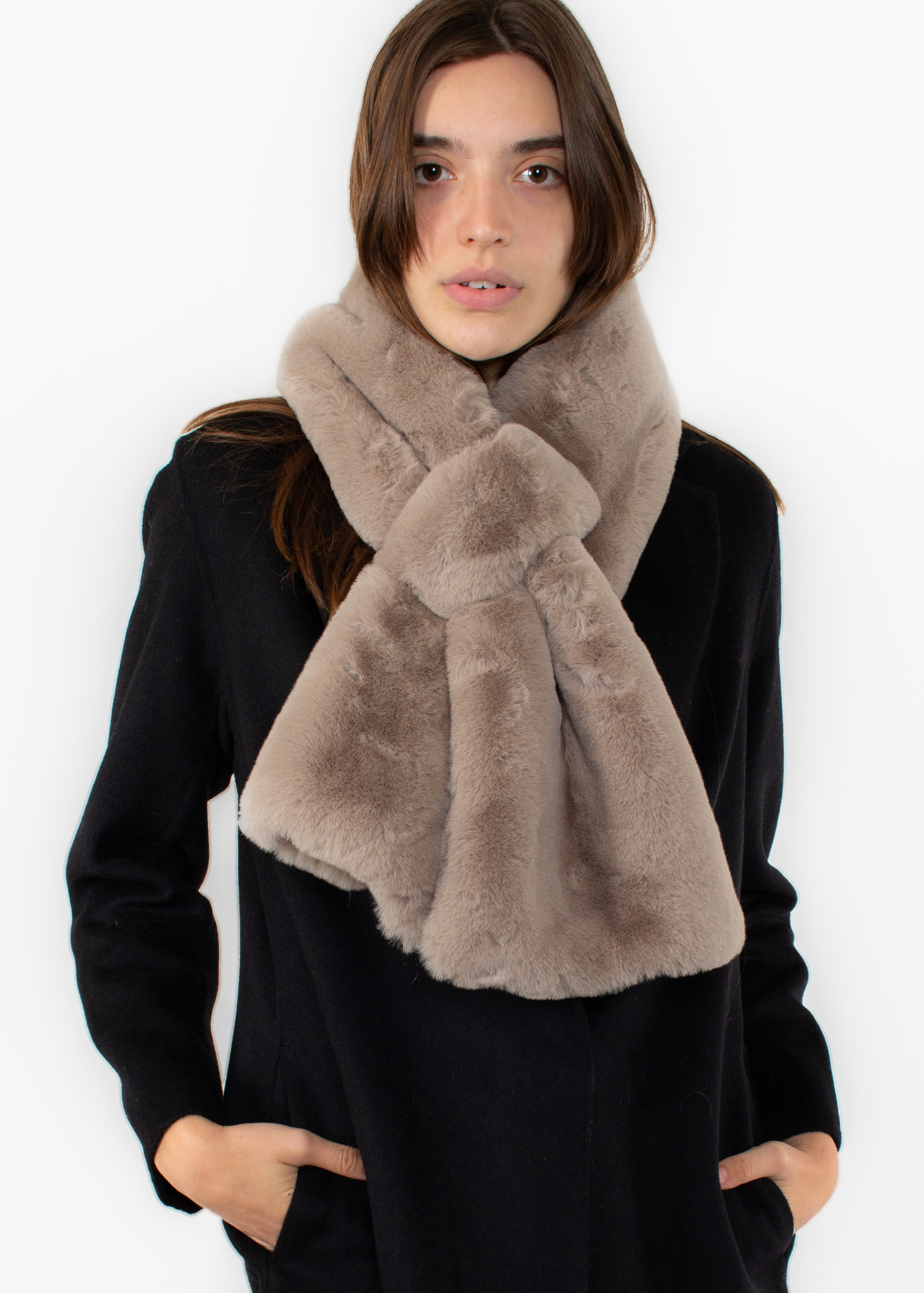 APPARIS Luna scarf taupe