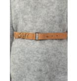 YAYA Suede belt with ruffles