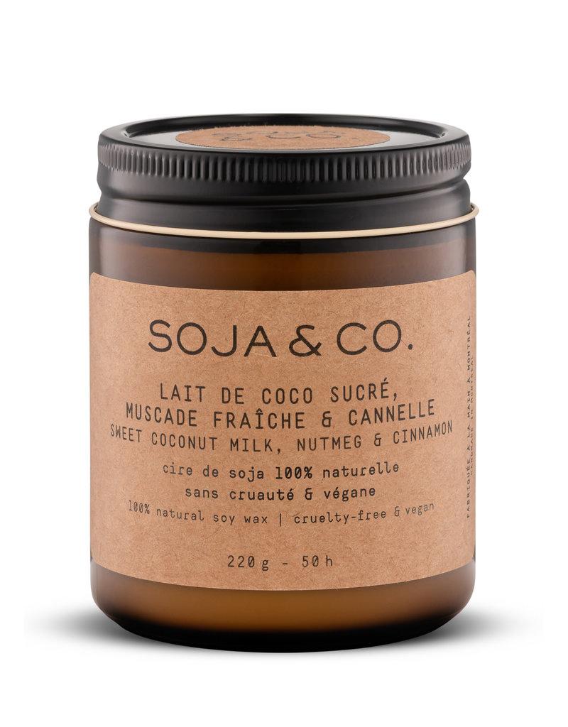 SOJA & CO Bougie lait de coco sucré, muscade fraîche & cannelle