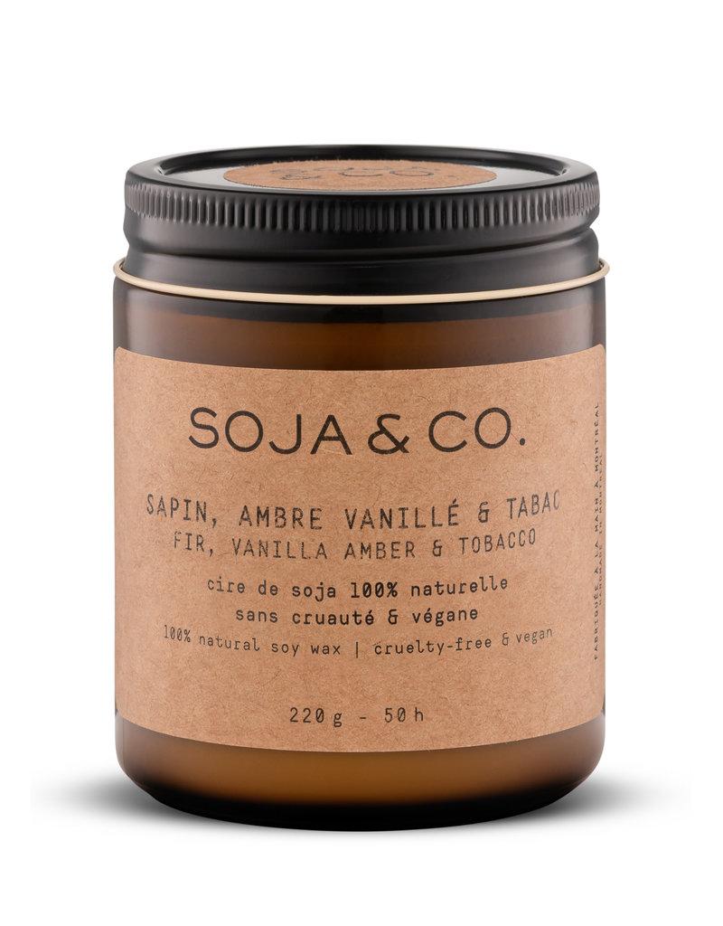 SOJA & CO Bougie sapin, ambre vanillé & tabac