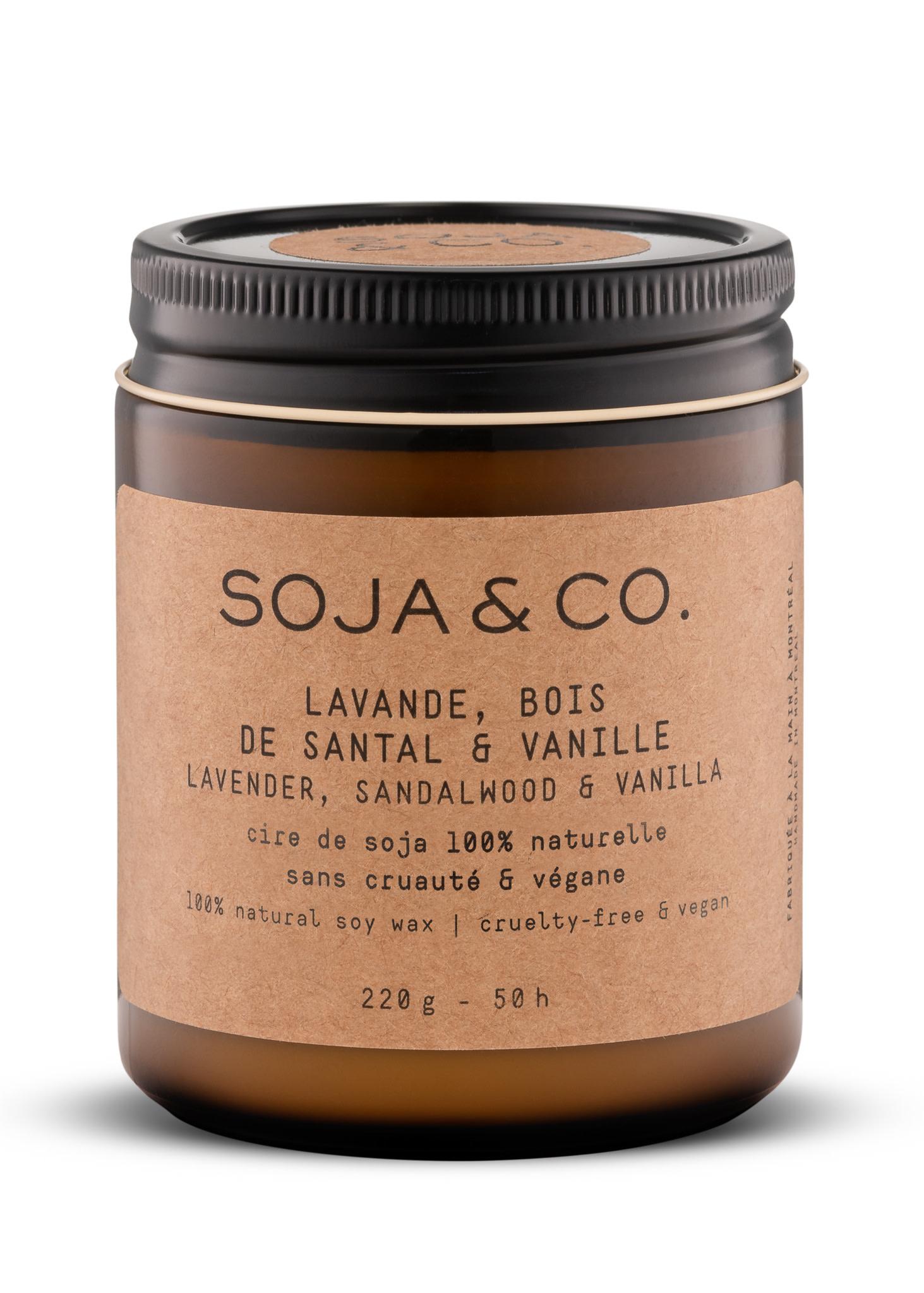 SOJA & CO Bougie lavande, bois de santal & vanille
