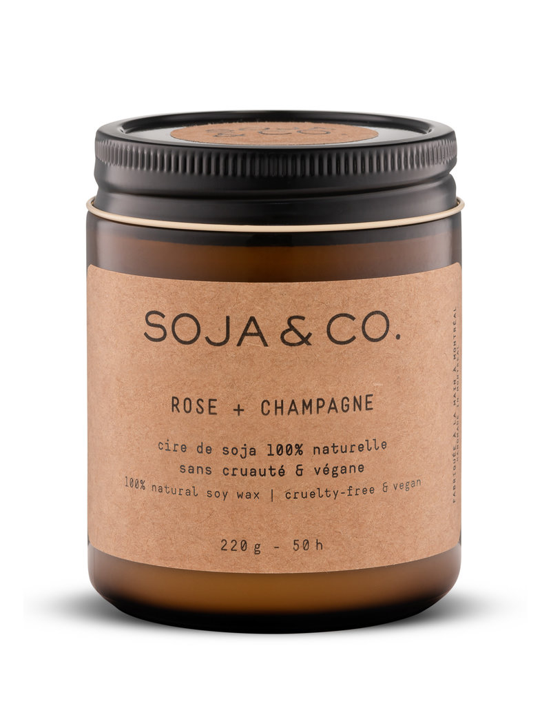 SOJA & CO Bougie rose + champagne