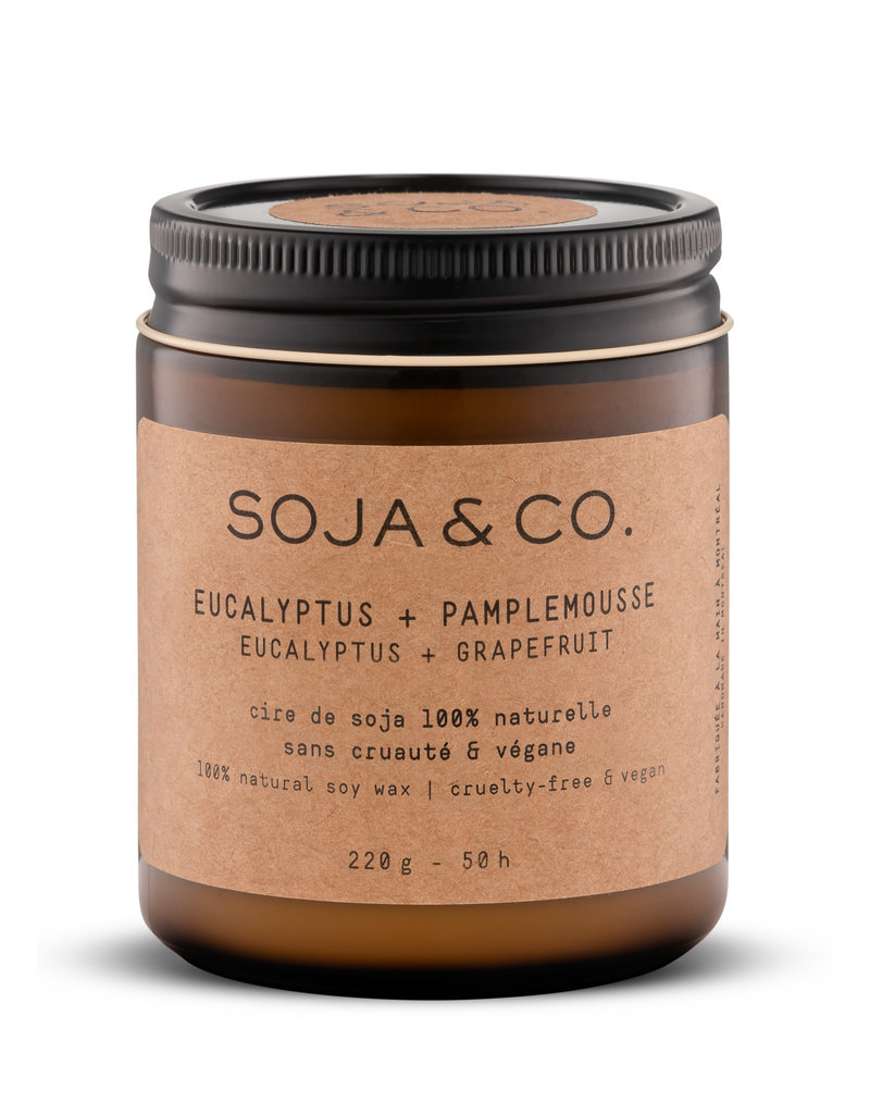 SOJA & CO Bougie eucalyptus + pamplemousse