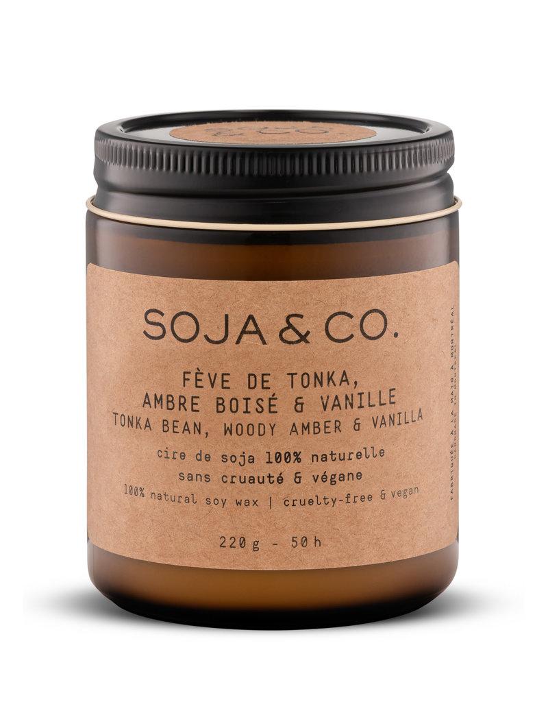 SOJA & CO Bougie fève de tonka, ambre boisé & vanille