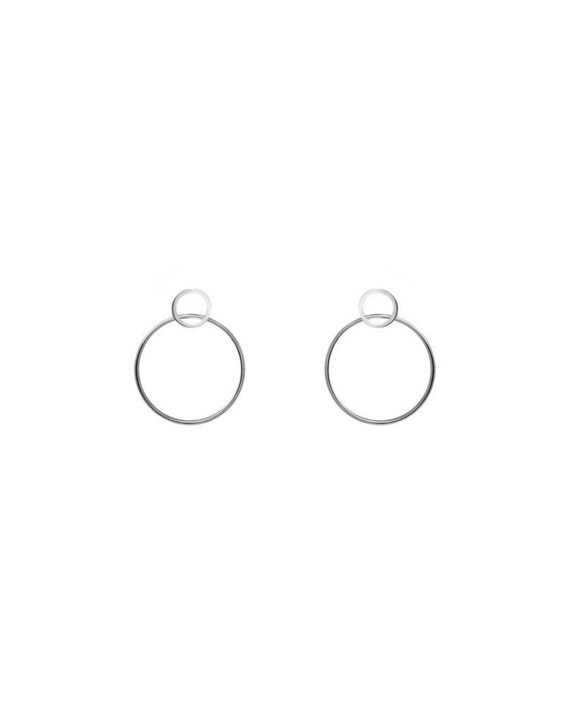 Boucles d'oreilles anneaux argent