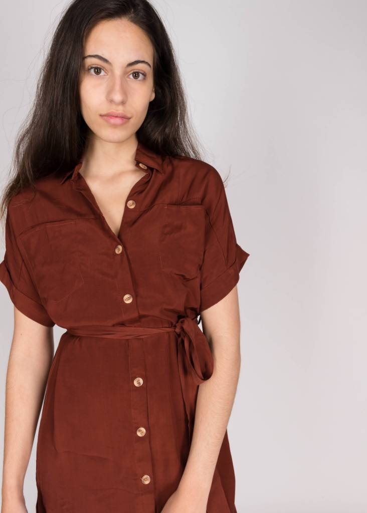 FAITHFULL FARETTA SHIRT DRESS