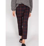 VELVET STRETCH PLAID PANT