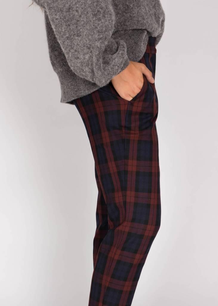 STRETCH PLAID PANT