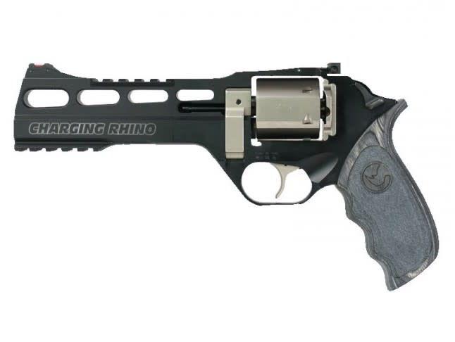 """Chiappa Chiappa Charging Rhino 60DS Black/White - 9mm, 6"""""""
