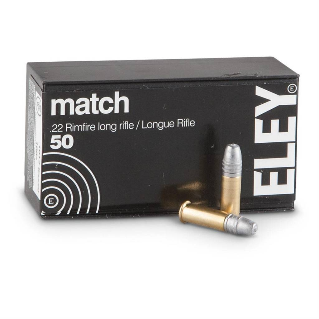 Eley Eley Match .22LR 40gr, RN Box of 50