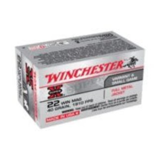 Winchester Winchester Super-X .22 Win Mag 40-Grain Full Metal Jacket Rifle Ammunition