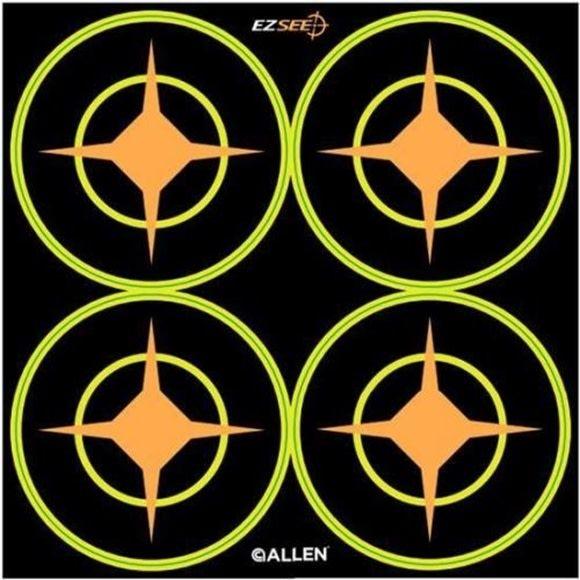 """Allen Allen EZ Aim Splash Adhesive Aiming Dot, 3"""" Round, 12 Pack"""