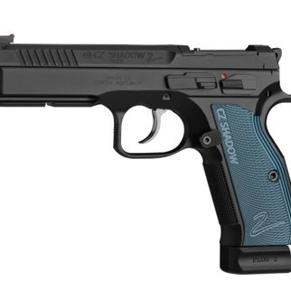 CZ CZ Shadow 2 Optics Ready Semi-Auto Pistol, 9mm, 10 Round, Black w/ Blue Grips