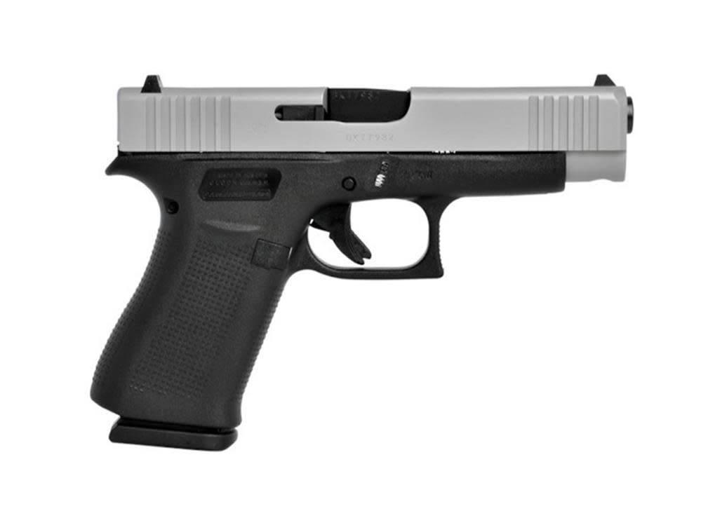 "Glock Glock 48 9mm, 4.17"" brl 10rd Fixed Sights 2-Tone Silver/Black"