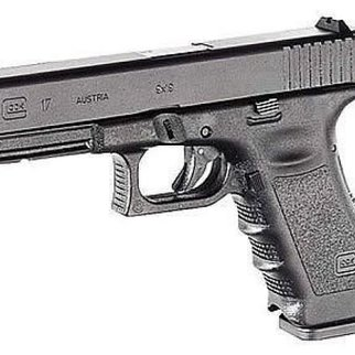 "Glock Glock 17 Gen 3 Semi-Auto Pistol 9mm, 4.48"", Black, Fixed Sight, 5.5lb"