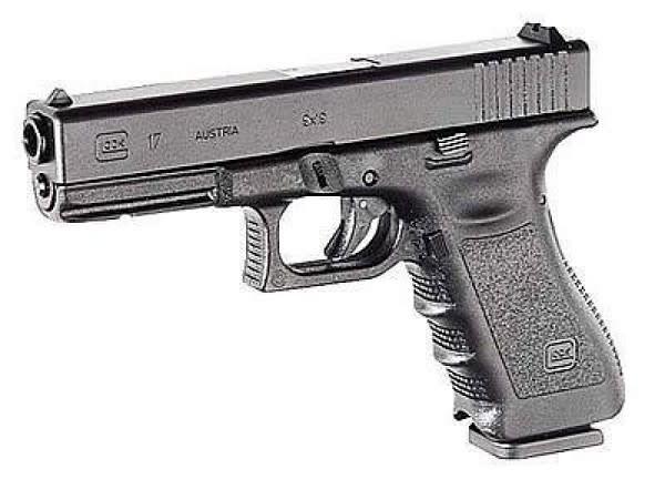 """Glock Glock 17 Gen3 Semi-Auto Pistol 9mm, 4.48"""", Black, Fixed Sight, 5.5lb"""