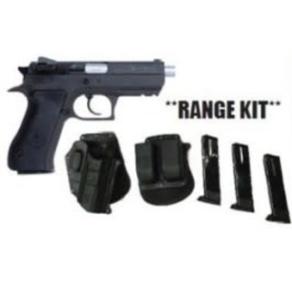 "IWI Magnum Research Baby Desert Eagle II, 9mm, 4.25"" Barrel, Black, 10 Round, Range Kit"