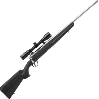 """Savage Arms Savage Axis II XP Stainless Package Bolt Action Rifle .243 Win 22"""" Barrel 4 Rounds with 3-9x40 Scope Matte Stainless Finish"""