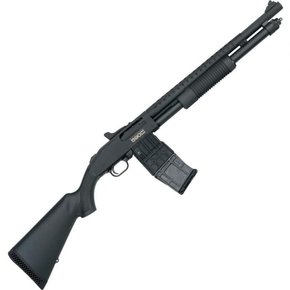 "Mossberg Mossberg 590M Mag-Fed Ghost Ring, Heat Shield, 12g, 2-3/4"", 18.5"" Barrel, 10-Shot"