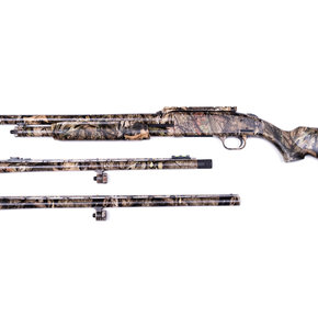 "Mossberg SALE! Mossberg 500 3-Barrel Combo, Mossy Oak Break-Up Country Camo, 12 Gauge Pump Action Shotgun, 3"" Chamber, 24"" Rifled, 24"" Ported, 28"" Ported Waterfowl Barrels"