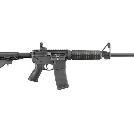 """Ruger Ruger AR-556 Modern Sporting Semi-Auto Rifle, 5.56x45mm NATO, 16.1"""" Barrel, 5 Rounds, Black Synthetic Collapsible Stock"""