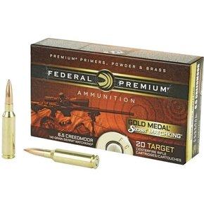 Federal Ammunition Federal Gold Medal, 6.5 Creedmoor, 140gr, Sierra Match King BTHP Box of 20