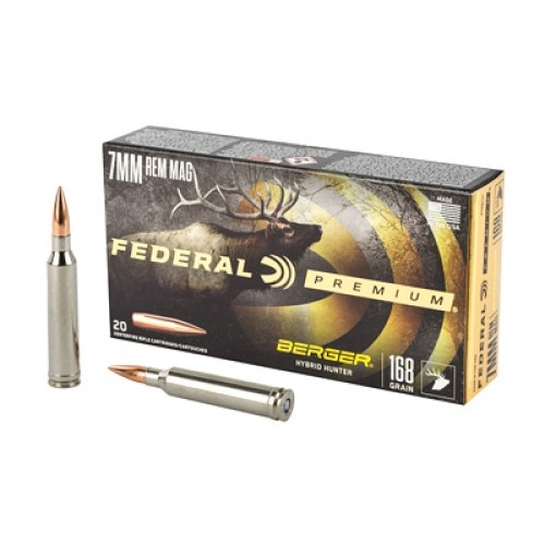 Federal Premium Berger Hybrid Hunter 7mm rem mag 168gr