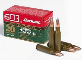 Barnaul Barnaul .308 Win, 145gr, SP, Box of 20