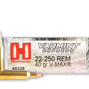 Hornady Hornady Varmint Express Ammunition 22-250 Remington 40 Grain V-MAX Box of 20