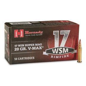 Hornady Hornady 17 WSM 20 Grain V-Max 50/Box