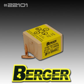 BERGER BULLETS 22/.224'' CAL.OTM 77GR BULLETS