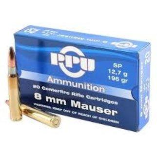 PPU PPU 8mm Mauser 196 Grain SP Box of 20