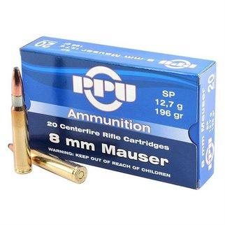 PPU PPU 8mm Mauser SP 196 Grain Box of 20