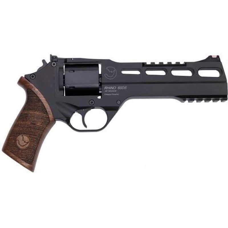 Chiappa SALE - CHIAPPA RHINO 60DS 357 Mag 6″ 6rds Wood Grip Black