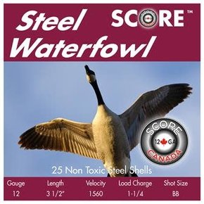 "Score 12 Gauge 3 1/2"" 1560 FPS 1 1/4oz BB Steel Waterfowl"