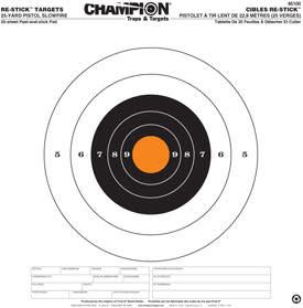 Champion Champion Re-Stick Target 50 Yard Small Bore