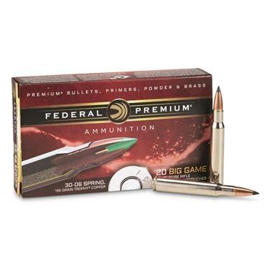 Federal Ammunition Federal Premium 30-06 Springfield Edge TLR 20 per box