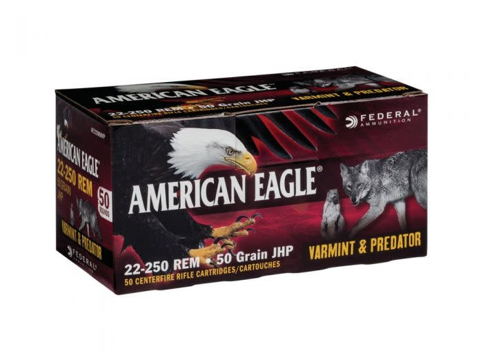 American Eagle American Eagle 22-250 50 Grain JHP 50 Rounds