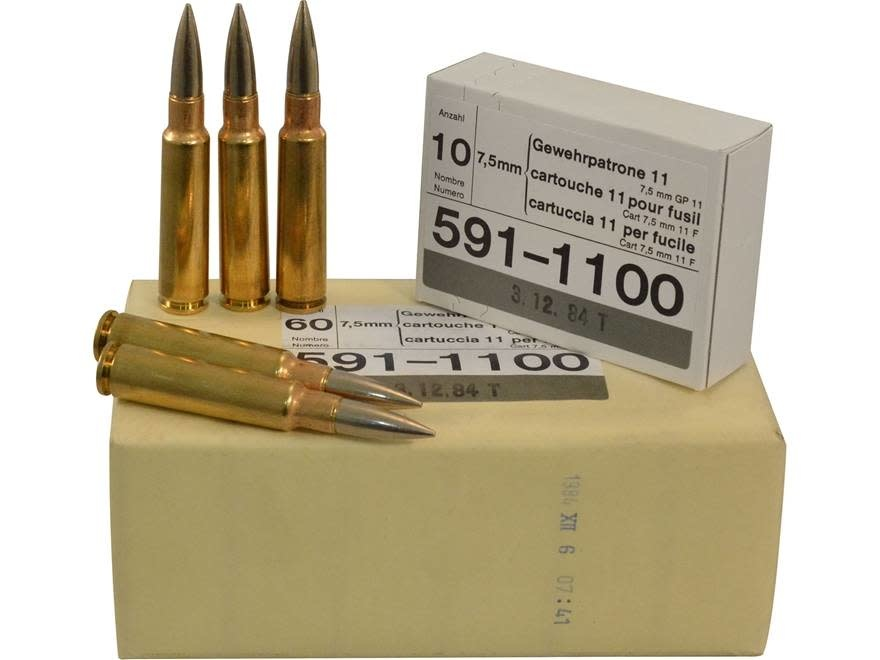 Surplus Swiss 7.5x55 GP11 Pack of 10