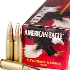 Federal Ammunition American Eagle 5.7x28mm 40gr, Box of 50
