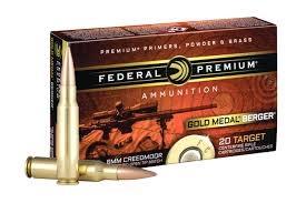 Federal Ammunition Federal Premiun 6mm Creedmoor 105 Grain Hybrid 20 per box