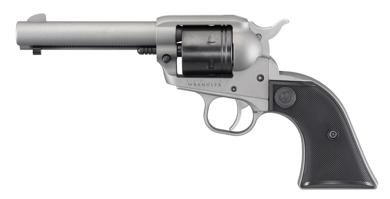 """Ruger Ruger 2003 Wrangler Single Action Revolver, 22 LR, 4.62"""" BL, Silver Cerakote, 6-Round"""