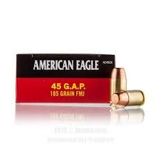 Federal American Eagle 45 GAP FMJ 185 Grain