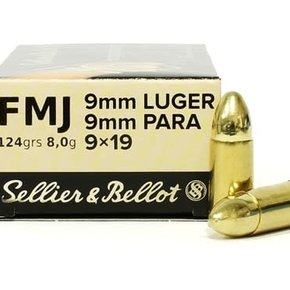 Sellier & Bellot Sellier & Bellot 9mm 124gr Case of 1000