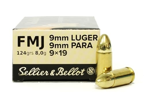 Sellier & Bellot Sellier & Bellot 9mm 124gr FMJ Case of 1000