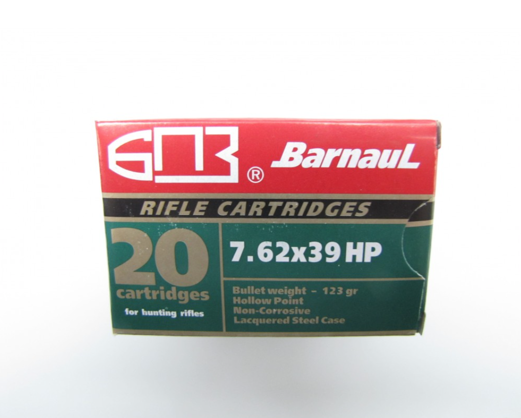 Barnaul Barnaul 7.62x39 123gr HP, 500 Rounds