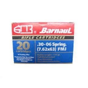 Barnaul Barnaul 30-06 Springfield 145gr FMJ Box of 20 Zinc Plated