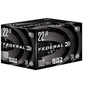 Federal Ammunition Federal Black Pack 22LR 38 GR HP 1100RDS